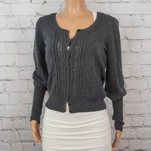 Halogen grey cardigan sweater